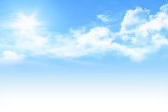 Cielo blu-chiaro Fotografie Stock Libere da Diritti