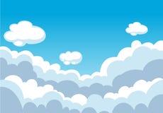 Cielo blu con il fondo delle nuvole royalty illustrazione gratis