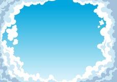Cielo blu con il fondo delle nuvole illustrazione di stock