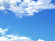 Cielo blu con il primo piano della nube Immagini Stock