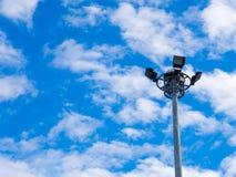 Cielo blu con la luce del punto Fotografia Stock Libera da Diritti