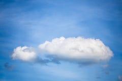 Cielo blu con la nube Fotografie Stock
