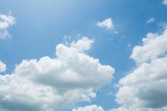 Cielo blu con la nube Fotografia Stock Libera da Diritti