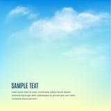 Cielo blu con le nubi Fondo di vettore Fotografia Stock Libera da Diritti