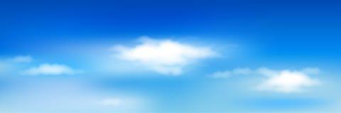 Cielo blu con le nubi. Vettore Fotografia Stock