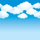 Cielo blu con le nuvole leggere Fotografia Stock Libera da Diritti