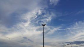 Cielo blu con stare palo leggero Fotografia Stock Libera da Diritti