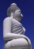 Cielo blu del Buddha Immagine Stock