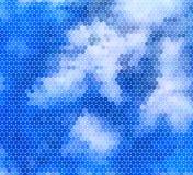 Cielo blu del mosaico con le nuvole Royalty Illustrazione gratis