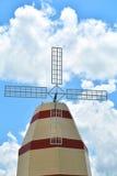 Cielo blu del mulino a vento Fotografia Stock Libera da Diritti