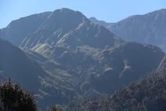 cielo blu della montagna Fotografia Stock