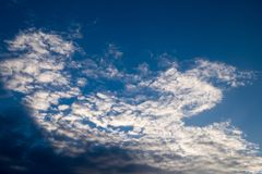 Cielo blu di estate Fotografia Stock