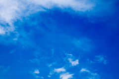 Cielo blu di estate Fotografie Stock