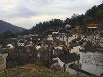 cielo blu di vecchia città cinese Fotografia Stock Libera da Diritti