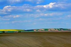 Cielo blu e campi Fotografie Stock Libere da Diritti