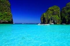Cielo blu e chiara acqua Immagini Stock Libere da Diritti