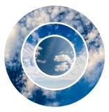 Cielo blu e collage delle nuvole Fotografie Stock