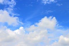 Cielo blu e nube Fotografia Stock