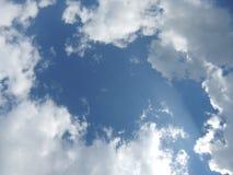 Cielo blu e nubi Immagini Stock