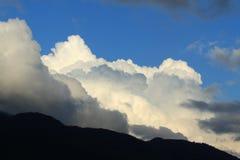 Cielo blu e nubi Fotografia Stock