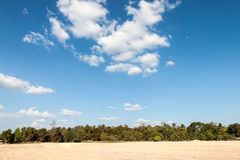 Cielo blu e nuvola Fotografia Stock