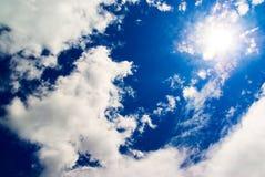cielo blu e Sun    Immagine Stock Libera da Diritti