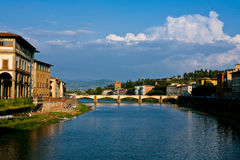 Cielo blu e vecchia città (Firenze) Fotografia Stock Libera da Diritti