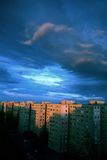 Cielo blu in GyÅr, Ungheria Fotografia Stock Libera da Diritti