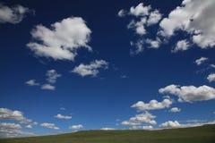 Cielo blu in Mongolia Immagini Stock