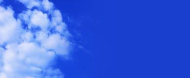 Cielo blu panoramico Fotografia Stock