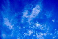 Cielo blu profondo Fotografia Stock Libera da Diritti