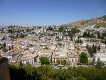 Cielo blu sopra Granada, Spagna Immagini Stock