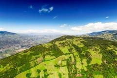 Cielo blu sopra la provincia di Tungurahua Fotografia Stock