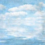 Cielo blu strutturato della priorità bassa dell'annata illustrazione vettoriale