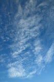 Cielo blu stupefacente Fotografie Stock
