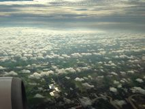 cielo blu sull'aereo Fotografie Stock