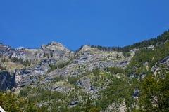 Cielo blu superiore Slovenia della montagna fotografia stock
