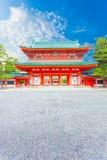 Cielo blu V di Ro-lunedì dell'entrata del portone della torre del santuario di Heian Fotografia Stock