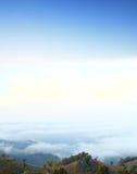 Cielo brillante en el top Foto de archivo libre de regalías