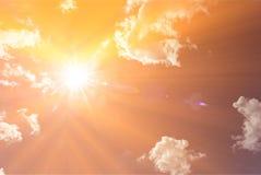 Cielo caldo di estate Fotografie Stock Libere da Diritti