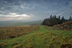 Cielo cambiante sobre la pared de Hadrians Fotografía de archivo libre de regalías