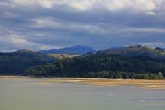 Cielo cambiante sobre las colinas cerca de Nelson Imágenes de archivo libres de regalías