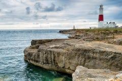 Cielo cambiante sobre Portland Bill Lighthouse Fotografía de archivo libre de regalías