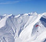 Cielo che scivola in alte montagne Fotografia Stock