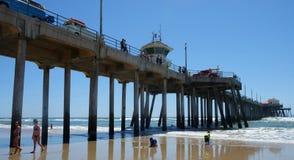 Cielo claro del Huntington Beach Foto de archivo libre de regalías