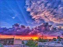 Cielo coloreado Fotografía de archivo