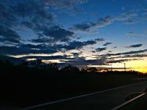 Cielo coloreado Fotografía de archivo libre de regalías