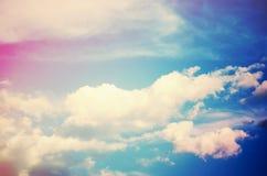 Cielo (colores cruz-procesados) Imagen de archivo libre de regalías
