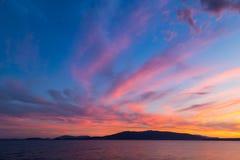 Cielo colorido Fotografía de archivo