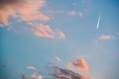Cielo colorido Foto de archivo libre de regalías